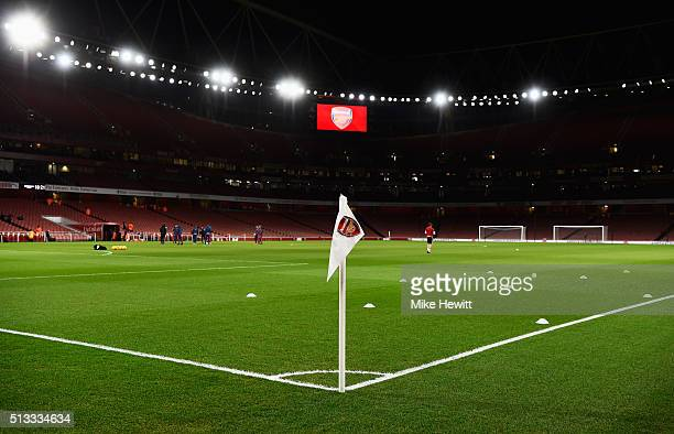 A general view inside the ground prior to the Barclays Premier League match between Arsenal and Swansea City at the Emirates Stadium on March 2 2016...