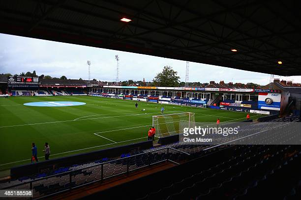 A general view inside the ground prior to the Capital One Cup second round match between Luton Town and Stoke City at Kenilworth Road on August 25...