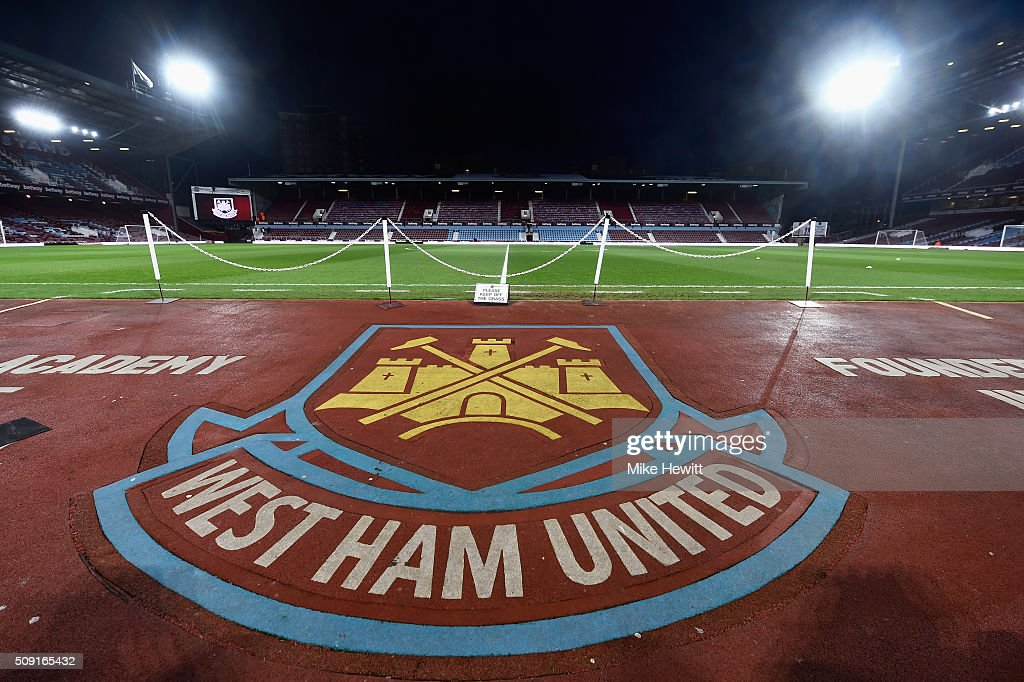 A general view inside the ground prior to the Emirates FA Cup Fourth Round Replay match between West Ham United and Liverpool at Boleyn Ground on February 9, 2016 in London, England.