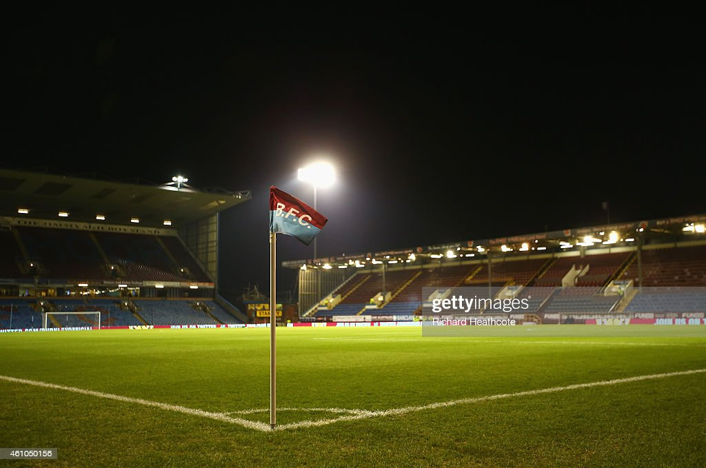 A general view inside the ground prior to the FA Cup Third Round match between Burnley and Tottenham Hotspur at Turf Moor on January 5 2015 in...