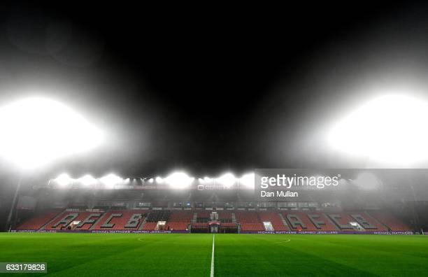 A general view inside the ground prior to the Premier League match between AFC Bournemouth and Crystal Palace at Vitality Stadium on January 31 2017...