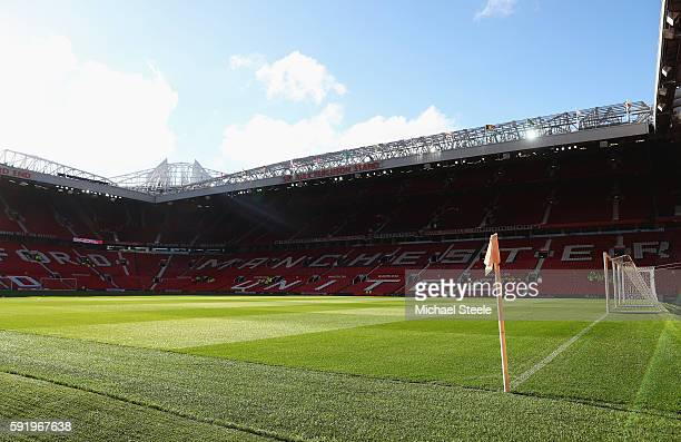 A general view inside the ground prior to the Premier League match between Manchester United and Southampton at Old Trafford on August 19 2016 in...
