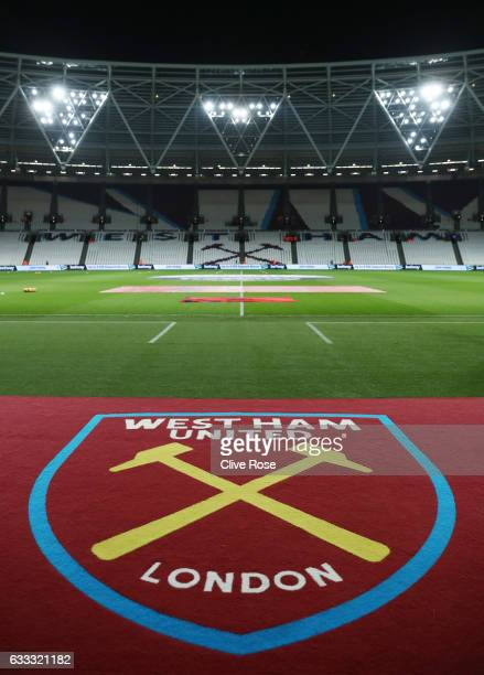 A general view inside the ground prior to the Premier League match between West Ham United and Manchester City at London Stadium on February 1 2017...