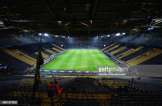 A general view inside the ground prior to the UEFA Champions League Group D match between Borussia Dortmund and RSC Anderlecht at Signal Iduna Park...