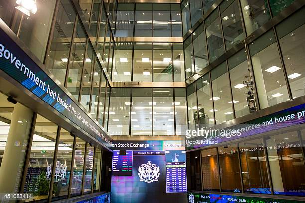 A general view inside the London Stock Exchange on June 23 2014 in London England
