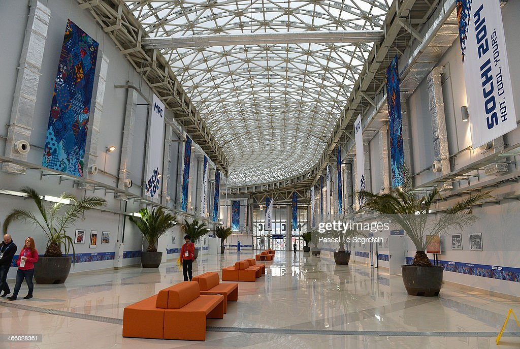 A general view inside the Main Press Centre prior to the Sochi 2014 Winter Olympics at the Olympic Park on January 31 2014 in Sochi Russia