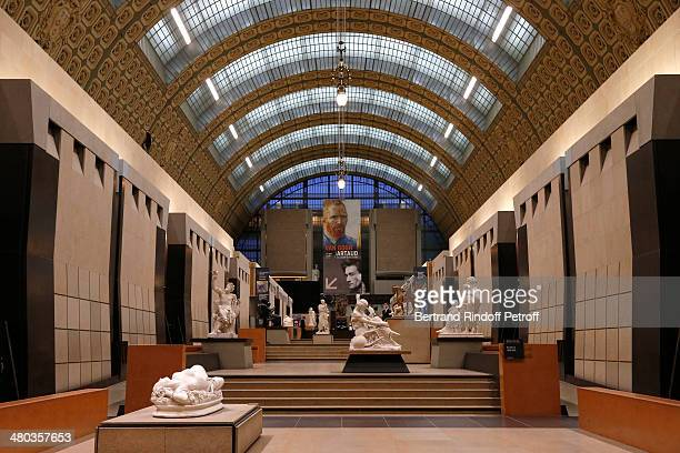 A general view inside the Musee d'Orsay within the dinner party of the Societe Des Amis Du Musee D'Orsay on March 24 2014 in Paris France