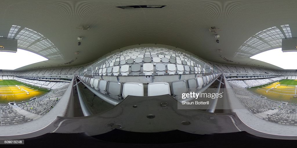 A general view inside the Nouveau Stade de Bordeaux on February 8, 2016 in Bordeaux, France.