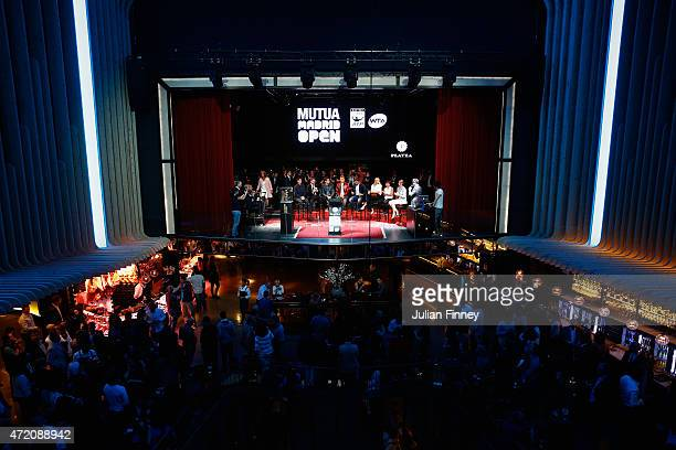 A general view inside the players party during day two of the Mutua Madrid Open tennis tournament at the Caja Magica on May 3 2015 in Madrid Spain
