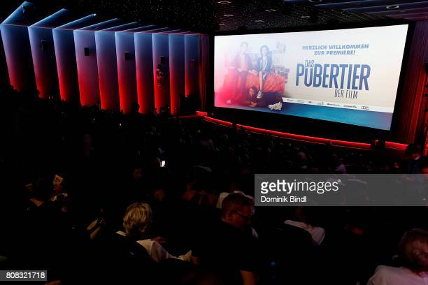 A general view inside the premiere of ''Das Pubertier'' at Mathaeser Filmpalast on July 4 2017 in Munich Germany