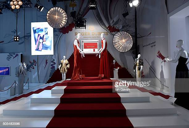 A general view inside the Roger Dubuis stand at the SIHH 2016 on January 18 2016 in Geneva Switzerland