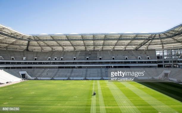 A general view inside the Rostov Arena in the southern Russian city of RostovonDon on August 21 2017 The venue will host five games of the FIFA World...
