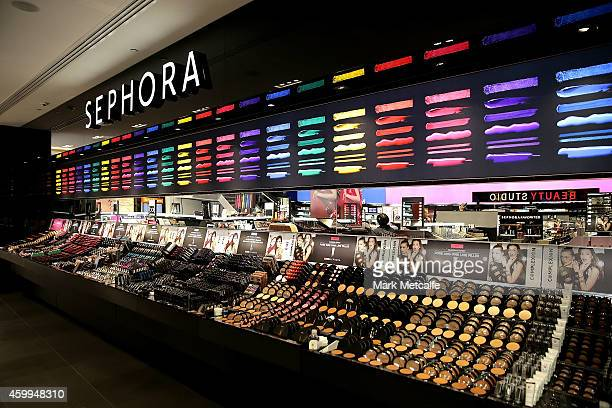 A general view inside the Sephora store before it opens the doors to its Westfield Pitt Street Mall store on December 5 2014 in Sydney Australia This...