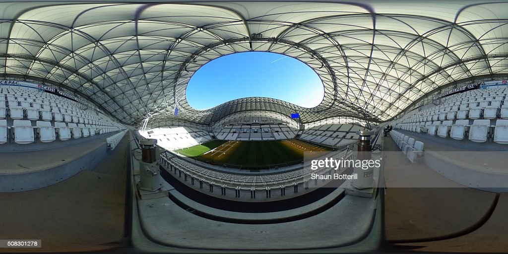 A general view inside the Stade Velodrome on February 4 2016 in Marseille France