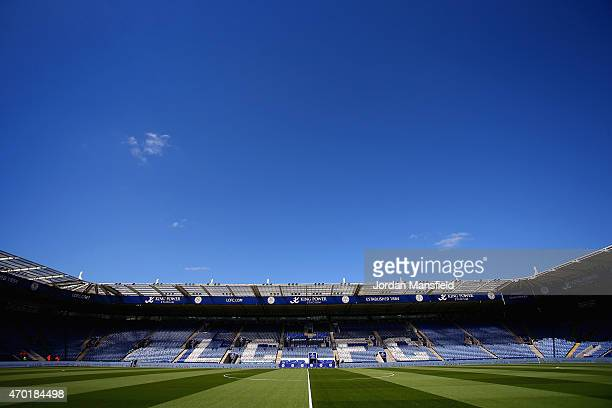 A general view inside the stadium ahead of the Barclays Premier League match between Leicester City and Swansea City at The King Power Stadium on...