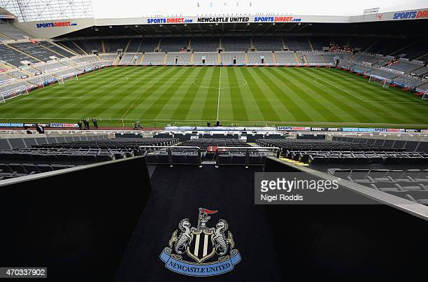 A general view inside the stadium ahead of the Barclays Premier League match between Newcastle United and Tottenham Hotspur at St James' Park on...