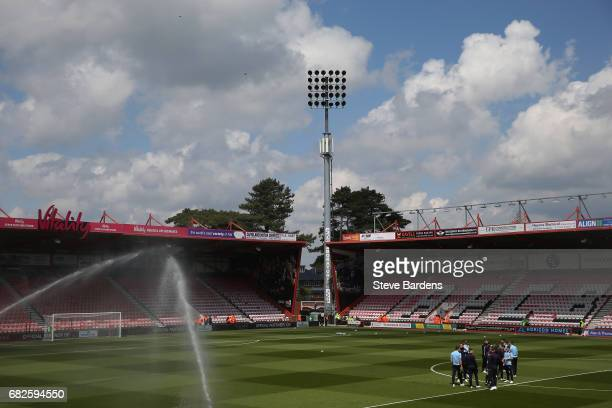 General view inside the stadium as the Burnley team take a look around prior to the Premier League match between AFC Bournemouth and Burnley at...