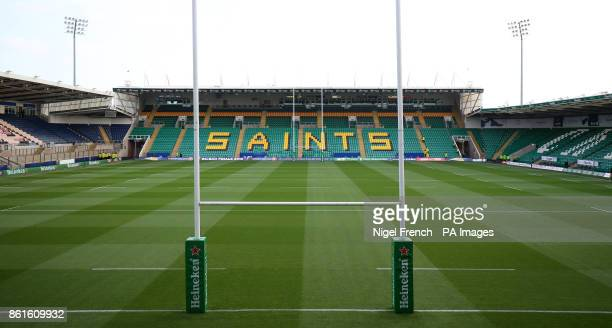 A general view inside the stadium before the Champions Cup match at Franklin's Gardens Northampton