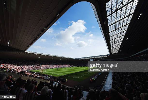 A general view inside the stadium during the Barclays Premier League match between Sunderland and Tottenham Hotspur at the Stadium of Light on...