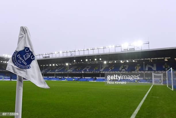 A general view inside the stadium during the Emirates FA Cup third round match between Everton and Leicester City at Goodison Park on January 7 2017...