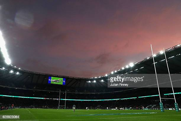 A general view inside the stadium during the Old Mutual Wealth Series match between England and Argentina at Twickenham Stadium on November 26 2016...