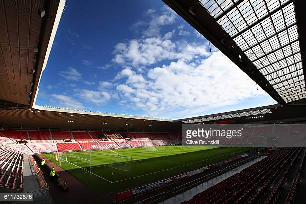 General view inside the stadium during the Premier League match between Sunderland and West Bromwich Albion at Stadium of Light on October 1 2016 in...