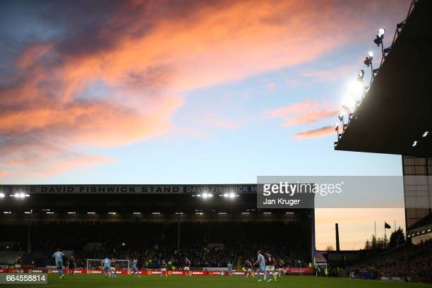 General view inside the stadium during the Premier League match between Burnley and Stoke City at Turf Moor on April 4 2017 in Burnley England