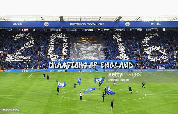 A general view inside the stadium during the Premier League match between Leicester City and Arsenal at The King Power Stadium on August 20 2016 in...