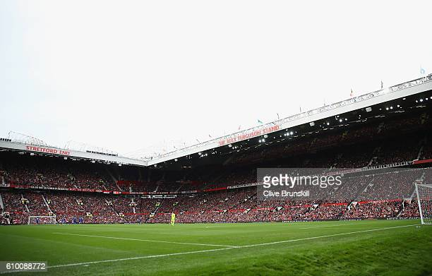 General view inside the stadium during the Premier League match between Manchester United and Leicester City at Old Trafford on September 24 2016 in...