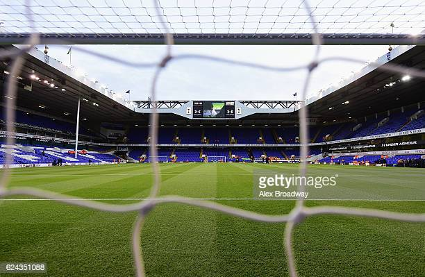 General view inside the stadium during the Premier League match between Tottenham Hotspur and West Ham United at White Hart Lane on November 19 2016...