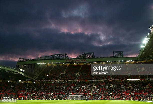 General view inside the stadium during the Premier League match between Manchester United and West Ham United at Old Trafford on November 27 2016 in...