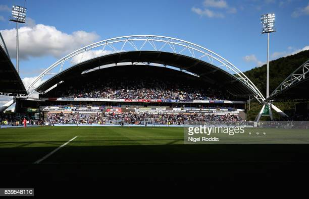 General view inside the stadium during the Premier League match between Huddersfield Town and Southampton at John Smith's Stadium on August 26 2017...