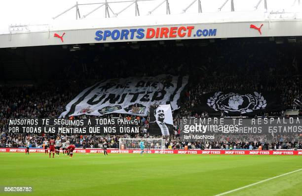 General view inside the stadium during the Premier League match between Newcastle United and Liverpool at St James Park on October 1 2017 in...