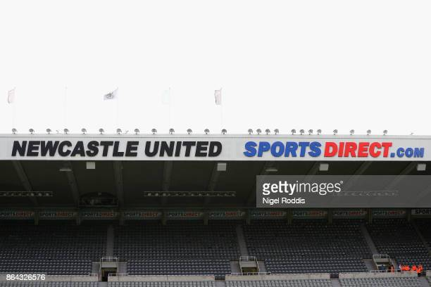 A general view inside the stadium during the Premier League match between Newcastle United and Crystal Palace at St James Park on October 21 2017 in...