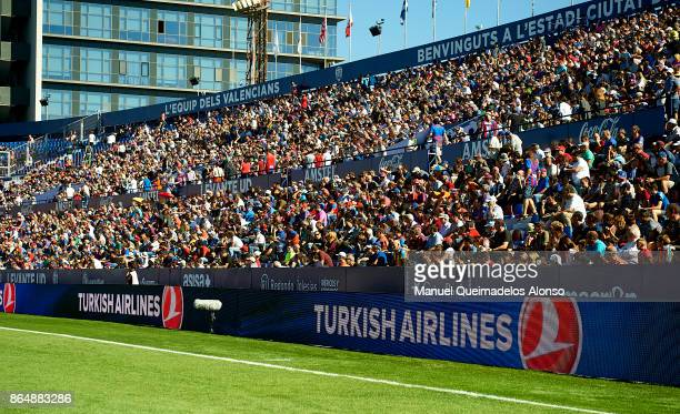 General view inside the stadium during the the La Liga match between Levante and Getafe at Ciutat de Valencia Stadium on October 21 2017 in Valencia...