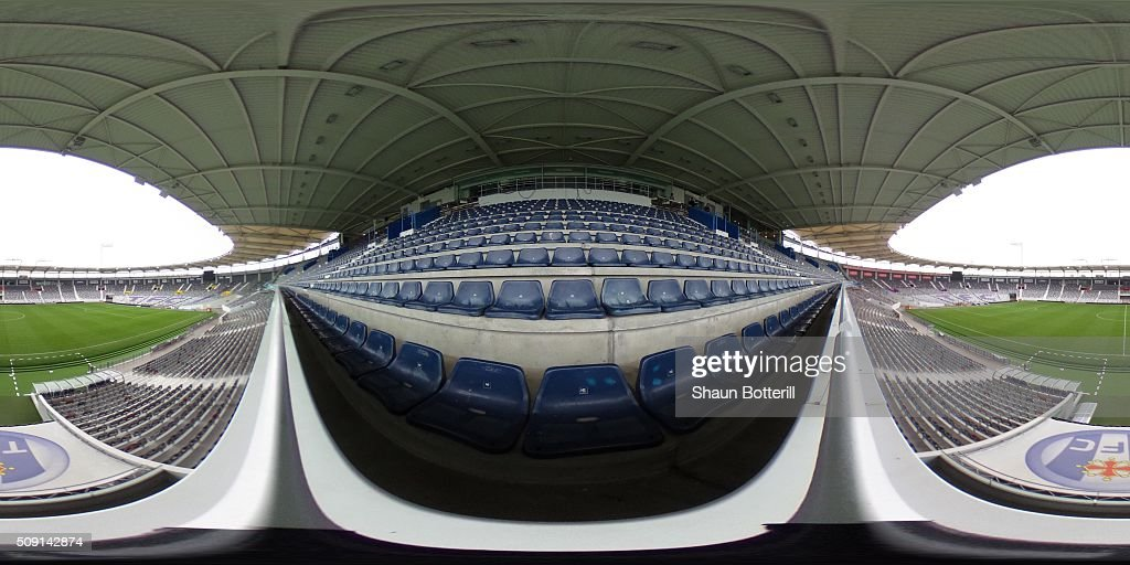 A general view inside the Stadium Municipal on February 9, 2016 in Toulouse, France.
