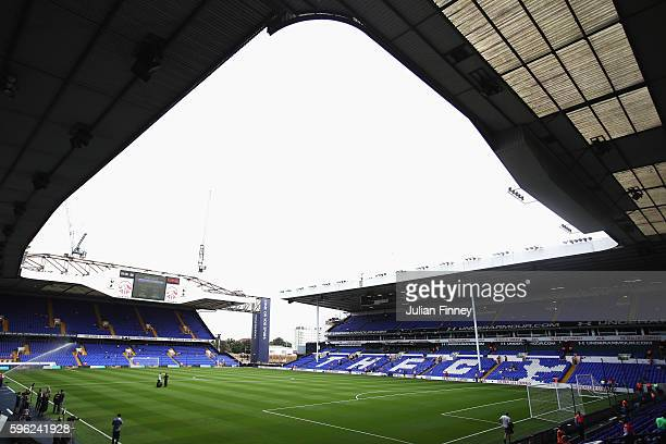 General view inside the stadium piror to kick off during the Premier League match between Tottenham Hotspur and Liverpool at White Hart Lane on...