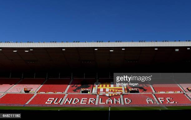 General view inside the stadium prior the Premier League match between Sunderland and Manchester City at Stadium of Light on March 5 2017 in...
