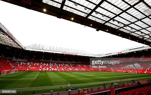 General view inside the stadium prior to kick off during the Premier League match between Manchester United and West Ham United at Old Trafford on...