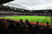 A general view inside the stadium prior to the Barclays Premier League match between West Ham United and Aston Villa at Boleyn Ground on November 8...