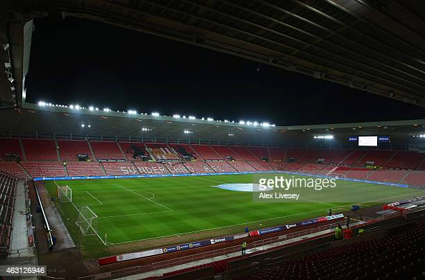 A general view inside the stadium prior to the Barclays Premier League match between Sunderland and Queens Park Rangers at Stadium of Light on...