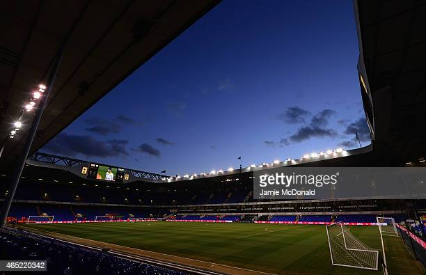 A general view inside the stadium prior to the Barclays Premier League match between Tottenham Hotspur and Swansea City at White Hart Lane on March 4...
