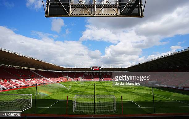 A general view inside the stadium prior to the Barclays Premier League match between Southampton and Everton at St Mary's Stadium on August 15 2015...
