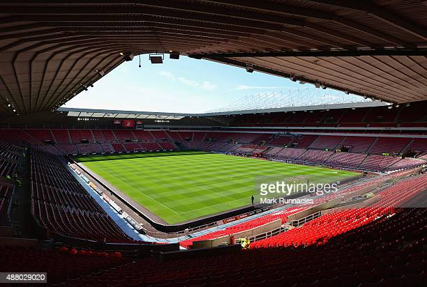 A general view inside the stadium prior to the Barclays Premier League match between Sunderland and Tottenham Hotspur at the Stadium of Light on...