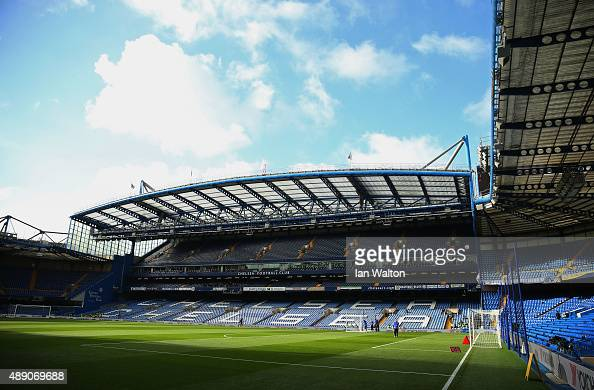 A general view inside the stadium prior to the Barclays Premier League match between Chelsea and Arsenal at Stamford Bridge on September 19 2015 in...