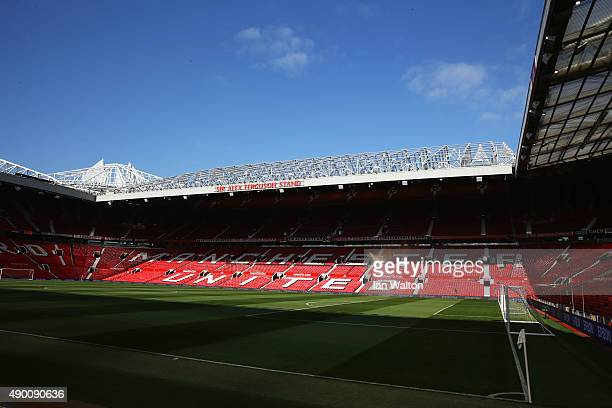 A general view inside the stadium prior to the Barclays Premier League match between Manchester United and Sunderland at Old Trafford on September 26...