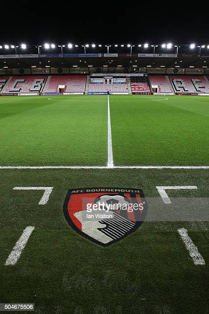 A general view inside the stadium prior to the Barclays Premier League match between AFC Bournemouth and West Ham United at Vitality Stadium on...