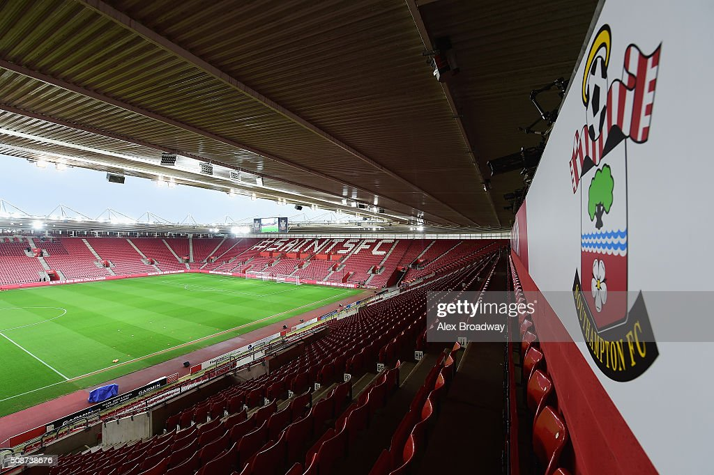 A general view inside the stadium prior to the Barclays Premier League match between Southampton and West Ham United at St Mary's Stadium on February 6, 2016 in Southampton, England.