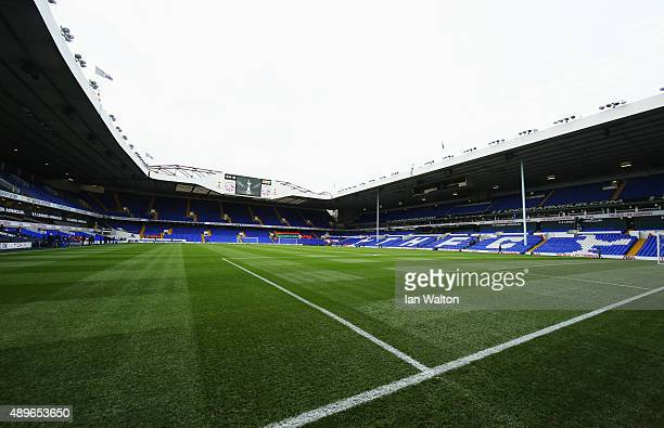 A general view inside the stadium prior to the Capital One Cup third round match between Tottenham Hotspur and Arsenal at White Hart Lane on...