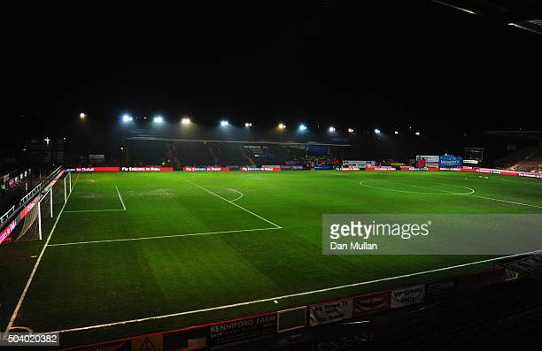 A general view inside the stadium prior to the Emirates FA Cup third round match between Exeter City and Liverpool at St James Park on January 8 2016...